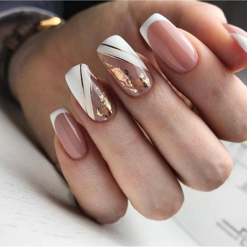 ногти, маникюр, дизайн ногтей, гель лак, ногти фото, Красивый и необычный френч