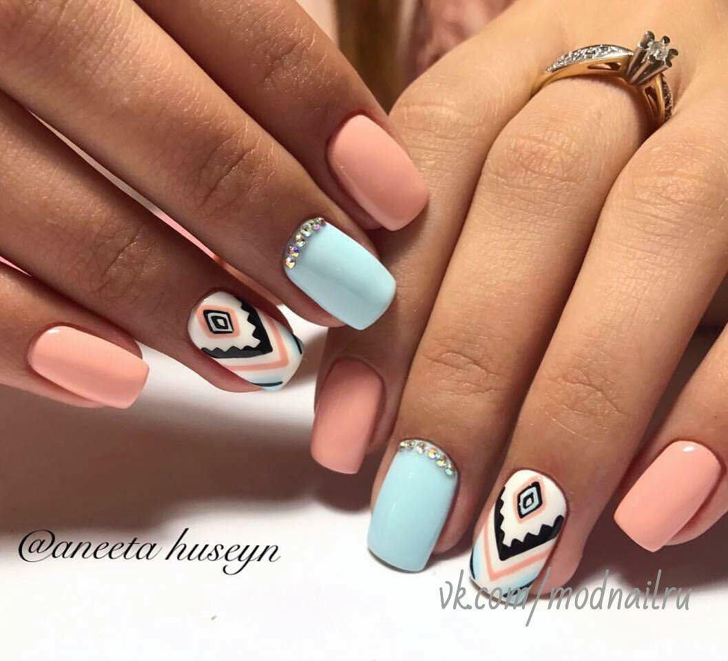 ногти, маникюр, дизайн ногтей, гель лак, ногти фото, Модный короткий маникюр
