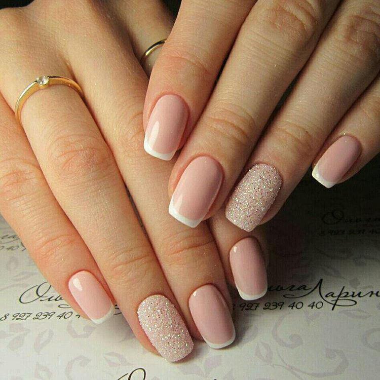 ногти, маникюр, дизайн ногтей, гель лак, ногти фото, Нежный нюд на короткие ногти