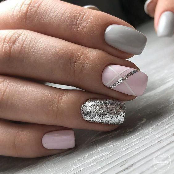 ногти, маникюр, дизайн ногтей, гель лак, ногти фото, Модный дизайн коротких ногтей