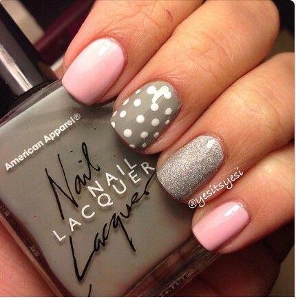 ногти, маникюр, дизайн ногтей, гель лак, ногти фото, Блестящий гель лак на короткие ногти