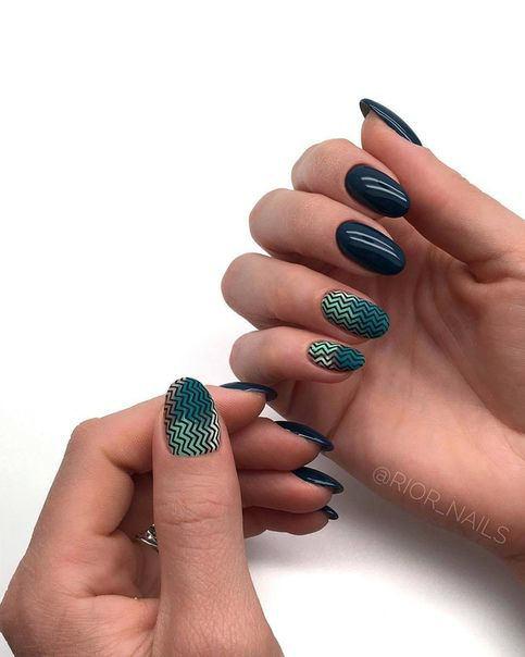 ногти, маникюр, дизайн ногтей, гель лак, ногти фото, Красивый стемпинг дизайн ногтей