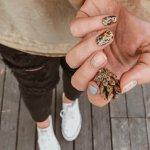 Необычные дизайны коротких ногтей