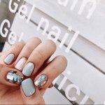 Стильный дизайн коротких ногтей