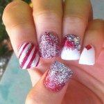 Зимний дизайн на квадратные ногти